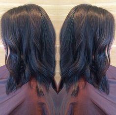 Dark brunette waves. Hair by SALON by milk + honey stylist, Jordan M.