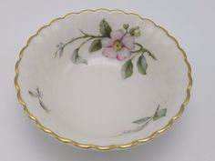 Syracuse Apple Blossom China Desert Fruit Bowl Vintage USA #SyracuseChina