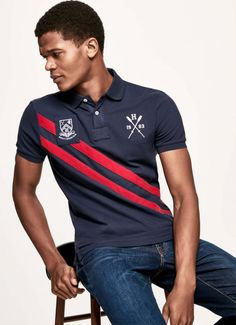 Polos, camisetas y sudaderas - Clothing - Hombre Polo Rugby Shirt, Polo Tees, Ralph Lauren Style, Polo Ralph Lauren, Dope Shirt, T Shirt, Moda Peru, Ralp Lauren, African Wear Styles For Men