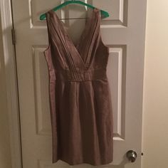 Banana Republic dress size 8! Conservative rose colored BR dress which was worn once to a wedding. Now doesn't fit after having a baby. 67% Rayon, 33% Linen. Banana Republic Dresses