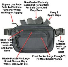 The Ultimate Fanny Pack Holster Glock 42, Concealed Carry Holsters, Fanny Pack, Hand Guns, Compact, Packing, Pew Pew, Shopping Bags, Pistols