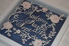 Wedding gift hand cut by Rosebud PaperCrafts