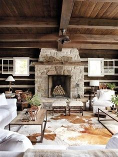 Summer Home Decorating Ideas Inspired by Rustic Simplicity of Canadian Cottages Sommerhaus-Deko-Idee Style Cottage, Modern Cottage, Rustic Cottage, Cottage Design, Cottage Living, Cozy Cottage, Cottage Homes, Cottage Porch, Cozy Living