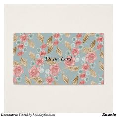 Decorative Floral Business Card
