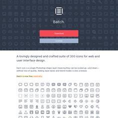 Batch / 300 Pictographs for UI design