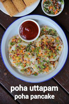 Uttapam Recipe, Chaat Recipe, Recipe Recipe, Indian Veg Recipes, Indian Dessert Recipes, Indian Snacks, Spicy Recipes, Cooking Recipes, Pancake Recipes