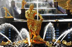 Samson fountain. Peterhof tour. Summer in St.Petersburg, Russian travel | AJ Tours LLC | St.Petersburg tours & Business travel