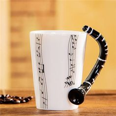 A Gift That Hits All The Right Notes… Need a present for the musician in your life? Looking for a mug with a little flair? These are just what you're looking for! With its stylized handle and musical