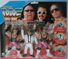 Wrestling Superstars, Wrestling Wwe, Wwf Hasbro, Hitman Hart, Wwe Action Figures, Modern Toys, Wwe Champions, Childhood Toys, Classic Toys