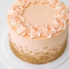 This buttercream cake is decorated with golden sprinkles and is great for celebrating almost any occasion! The color of the cake can be chosen below to match your celebration. Grandma Birthday Cakes, Golden Birthday Cakes, 14th Birthday Cakes, Elegant Birthday Cakes, Birthday Cake Girls, 13th Birthday, Gold Birthday, Birthday Ideas, Birthday Parties
