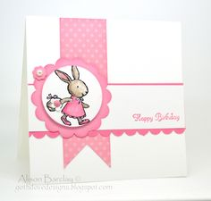 Gothdove Designs - Alison Barclay: Stampin Up! Everybunny stamp set on a birthday card. Great layout