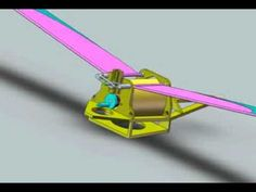 Flapping wing mechanism (barrel cam, rack and gear) - YouTube