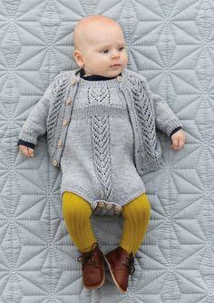 Knitting Patterns Romper JACKET No. 4 – Jacket with lace pattern Knitting For Kids, Baby Knitting Patterns, Baby Patterns, Knitted Baby Outfits, Knit World, Vintage Knitting, Kind Mode, Babys, Knitwear