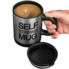 self stirring mug - awesome kitchen gadgets - awesome stuff