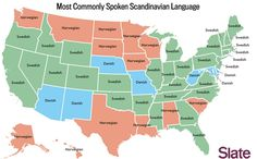 Most common Scandinavian language spoken in US... - Maps on the Web