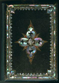 Mother-of-pearl bookbindings.