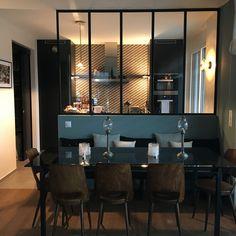 IMG_1685 Living Room Bar, Living Room Divider, Interior Exterior, Kitchen Interior, Kitchen Decor, Kitchen Vinyl, Glass Kitchen, Beautiful Houses Interior, Beautiful Kitchens