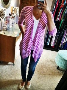 Tina Striped Open Cardigan - love everything about this open cardi!