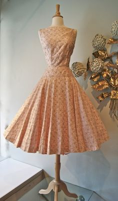 Vintage 1950s Dress // 50s Pink and Gold Johnny by xtabayvintage, $248.00
