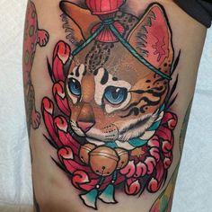 Image result for realistic maneki neko tattoos