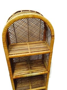 Vintage Rattan Etagere Bohemian Decor 54 inch Bamboo Curio Shelf Bookcase Stand Arched 4 Tiered Powder Room Vanity Display Shoe Stand USD) by Grey Couch Decor, Swivel Recliner Chairs, Powder Room Vanity, Outdoor Hanging Lights, Leather Reclining Sofa, Wicker Furniture, Cane Furniture, Wood Interiors, Metal Chairs
