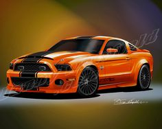 2012 MUSTANG Shelby GT500 Diamondback (Rocket Orange) http://www.dannywhitfield.com/