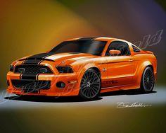 2012 MUSTANG Shelby GT500 Diamondback (Rocket Orange)