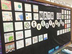Math bulletin board for back to school