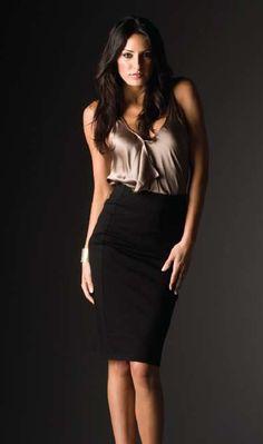 Paige Black Pencil Skirt and i soooo want this shirt