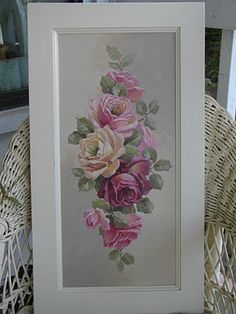 gorgeous painting on cabinet door by Christie Repasy