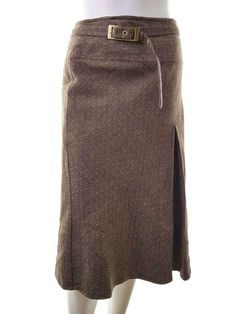 Clothing, Shoes & Accessories Covington Brown Pencil Lined Career Skirt Nwt Elegant In Style