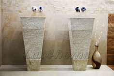 Lavabos de piedra Lux4home™, Model: CRL142 Marble Cream.  http://www.lux4home.com/products/stone-sinks