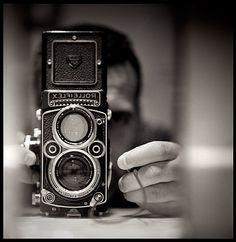 Rolleiflex taken with the same Rolleiflex.