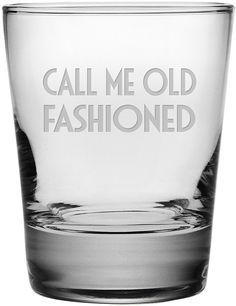 Call me Old Fashioned set of 4 glasses