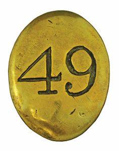 """Placca della bandoliera del 49 rgt. fanteria inglese """"Hertfordshire"""""""