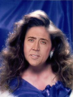 Image result for Nic cage's impose face on bodies