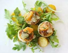 lisa is cooking: Sea Scallops with Saffron Potatoes and Orange-Meyer Lemon Salsa
