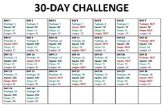 30 Day Workout Challenge for Getting Your Perfect Body Shape