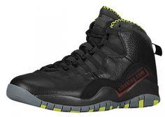 big sale 778ad 4a956 nike air jordan 10 black venom green 01 570x406 Air Jordan 10 Black Cool  Grey Anthracite