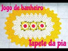 Jogo de banheiro em crochê com barrado duplo - Tapete da pia - YouTube