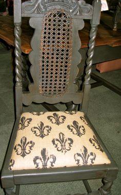Jacobean chalk painted chair.   https://www.facebook.com/dandelion.wood.5
