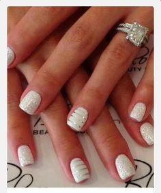 White, silver, stripes, glitter