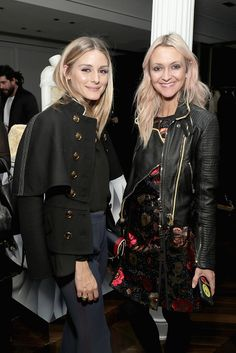 Olivia Palermo and Zanna Roberts Rassi attend the celebration of 'The Tale of Thomas Burberry' with Sienna Miller and Dominic West at Burberry Soho...