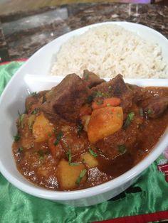 Carne de res guisada en jugo de parcha - Chef Edgardo Noel