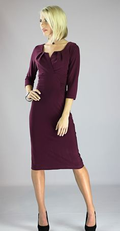 Modest Dresses: Katherine Dress in Plum