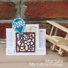 Here's a tutorial for the somewhat challenging job for creating masculine cards! Created by Mou Saha from My Life in Collage blog using Stephanie Barnard dies for Sizzix