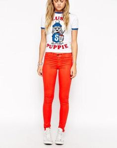 wildfox marianne skinny jeans  blue #skinny #denim #pants #jeans #skinnypants #covetme