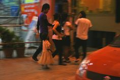 A busy nightlife in Bangalore