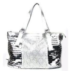 Sequence Silver Rhinestone Fashion Large Handbag In Stock: 45
