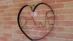 wall hung family name. ideal wedding present.  Pop's art & Co  check us out on facebook aswell
